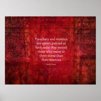 Cita de la SABIDURÍA de Emily Bronte Póster