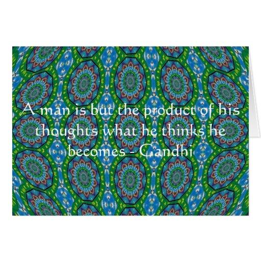 Cita de la sabiduría de Gandhi con diseño tribal Tarjeta De Felicitación