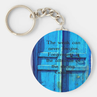 Cita de la sabiduría de Gandhi con la puerta grieg Llaveros Personalizados