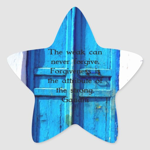 Cita de la sabiduría de Gandhi con la puerta Pegatina En Forma De Estrella