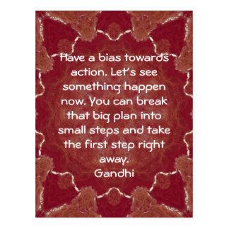 Cita de la sabiduría de Gandhi que dice sobre la a Postal