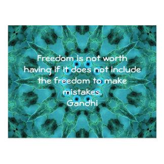 Cita de la sabiduría de Gandhi que dice sobre la l Postales