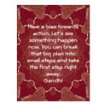 Cita de la sabiduría de Gandhi que dice sobre la Postal