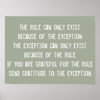 Cita de la sabiduría de las reglas, motivación póster