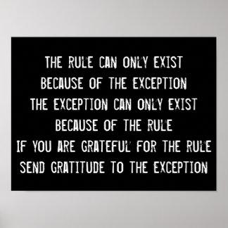 Cita de la sabiduría de las reglas, poster póster