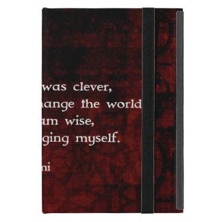 Cita de la sabiduría de Rumi sobre cambio y iPad Mini Coberturas