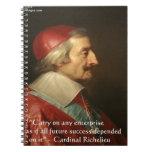 Cita de la sabiduría del éxito de Cardenal Cuaderno