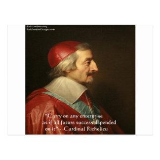 Cita de la sabiduría del éxito de Cardenal Richeli Postales