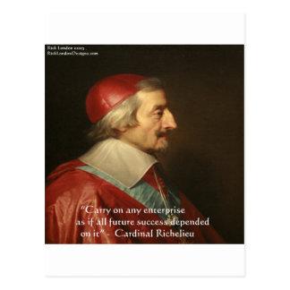 Cita de la sabiduría del éxito de Cardenal Richeli Tarjetas Postales