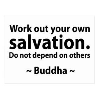 Cita de la salvación de Buda Tarjetas Postales