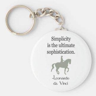 Cita de la simplicidad con el caballo del Dressage Llaveros