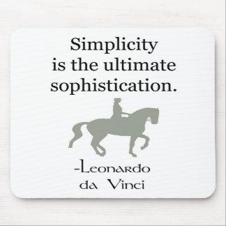 Cita de la simplicidad con el caballo del Dressage Alfombrillas De Ratón