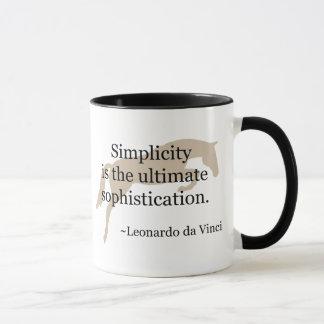 Cita de la simplicidad con el caballo del puente taza