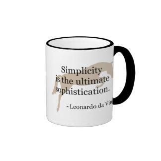 Cita de la simplicidad con el caballo del puente tazas