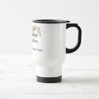 Cita de la simplicidad con el caballo del puente taza de café