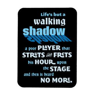Cita de la sombra que camina de Shakespeare Imán De Vinilo