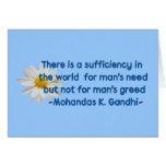 Cita de la tierra de Gandhi Tarjeta