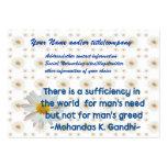 Cita de la tierra de Gandhi Plantillas De Tarjetas Personales