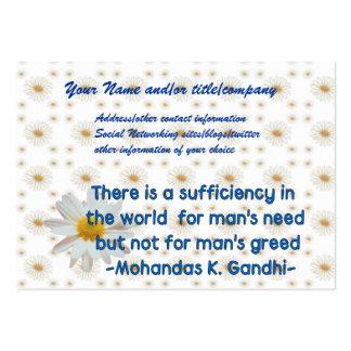 Cita de la tierra de Gandhi Tarjetas De Visita Grandes