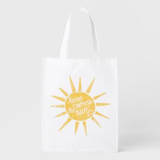 Cita de la tipografía del vintage de la sol bolsa de la compra