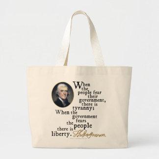 Cita de la Tiranía-Libertad de Jefferson Bolsas De Mano