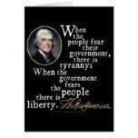 Cita de la Tiranía-Libertad de Jefferson Tarjetón