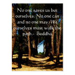 Cita de la TRAYECTORIA de Buda Tarjeta Postal