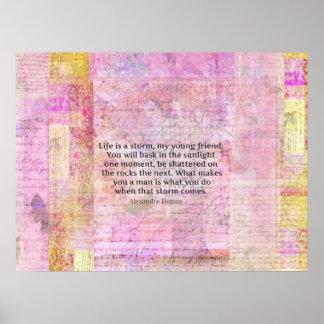 Cita de la vida de la sabiduría de Alejandro Dumas Impresiones