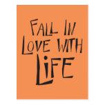Cita de la vida del amor, postal de motivación de