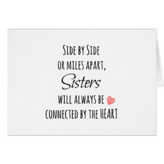 Cita de las hermanas tarjeta pequeña