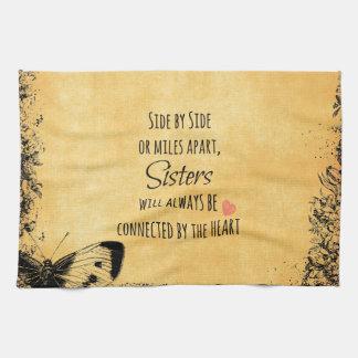 Cita de las hermanas toallas de mano