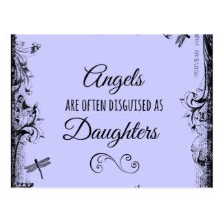 Cita de las hijas: Los ángeles están a menudo Tarjeta Postal