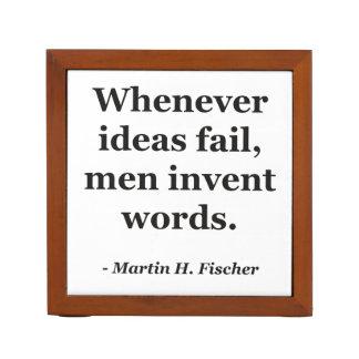 Cita de las palabras del fall de las ideas