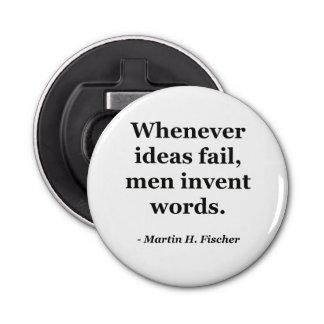 Cita de las palabras del fall de las ideas abrebotellas redondo