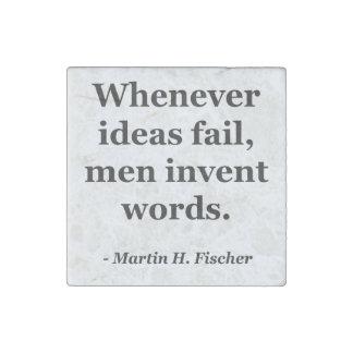 Cita de las palabras del fall de las ideas imán de piedra
