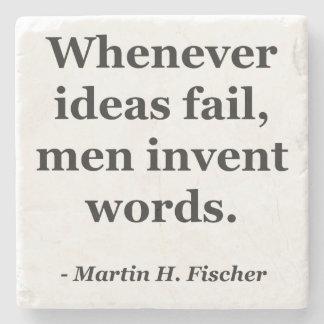 Cita de las palabras del fall de las ideas posavasos de piedra
