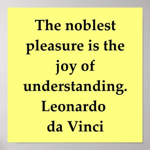 cita de Leonardo da Vinci Póster