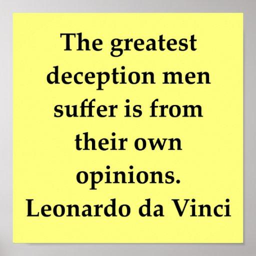 cita de Leonardo da Vinci Posters