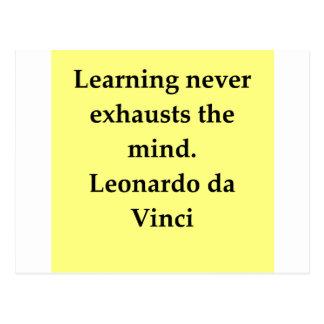 cita de Leonardo da Vinci Tarjetas Postales