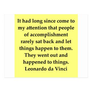 cita de Leonardo da Vinci Postales