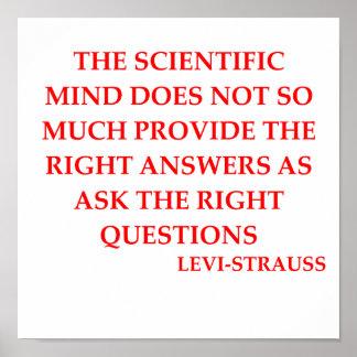 Cita de Levi Strauss Poster