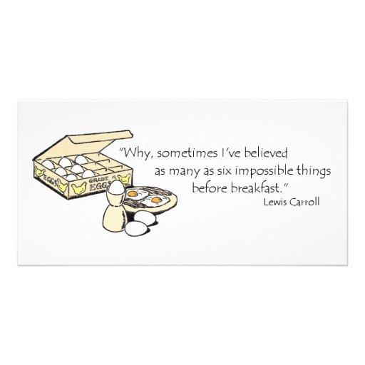 Cita de Lewis Carroll Tarjeta Personal Con Foto