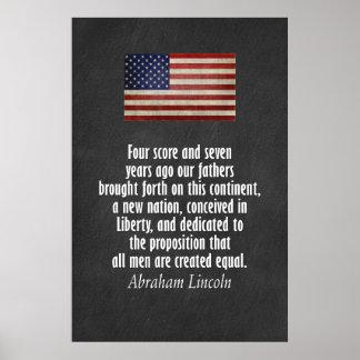 Cita de Lincoln - dirección de Gettysburg Póster