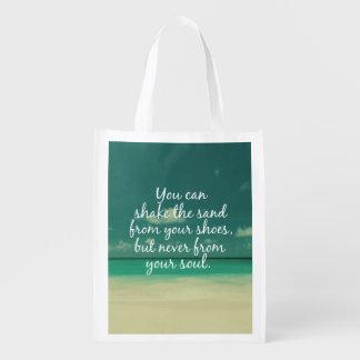 Cita de los amantes de la playa bolsa de la compra