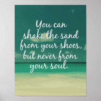 Cita de los amantes de la playa posters