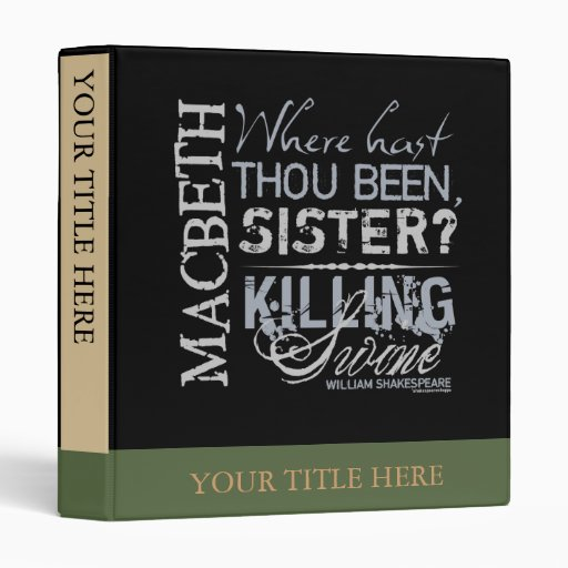Cita de los cerdos de la matanza de Macbeth