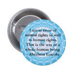 Cita de los derechos de los animales de Abraham Li Pins