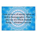 Cita de los derechos de los animales de Abraham Li Tarjeton
