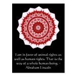 Cita de los derechos de los animales de Abraham Li Tarjetas Postales