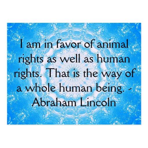 Cita de los derechos de los animales de Abraham Postales